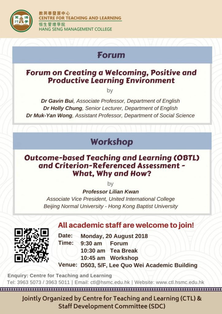 Forum on Creating a Welcoming, Positive and Productive Learning Environment