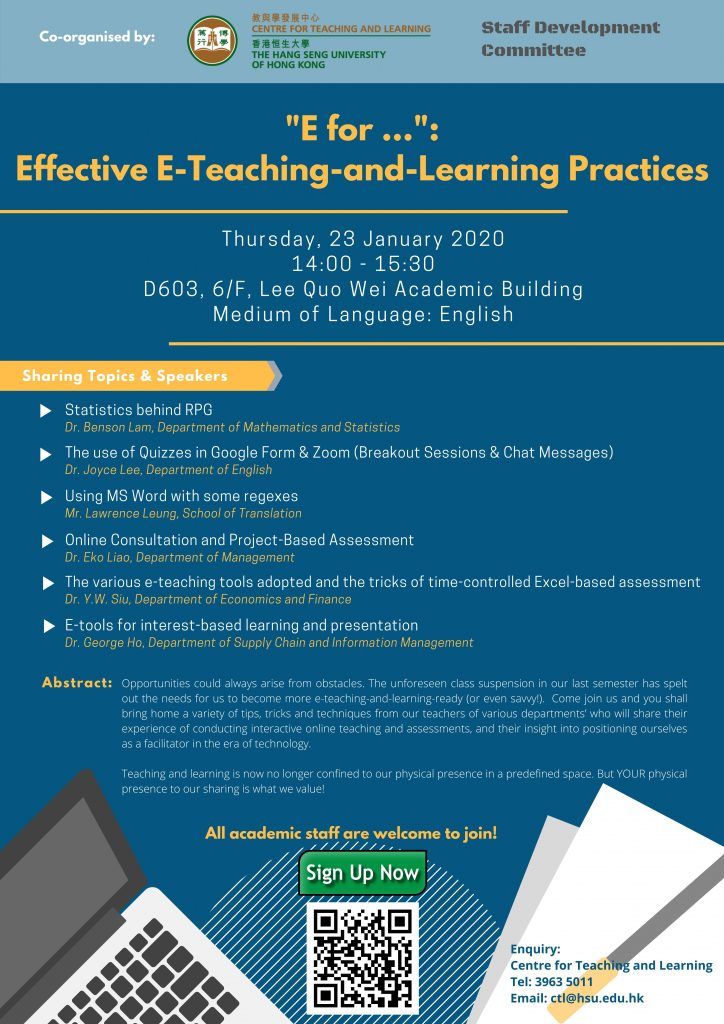 """E for …"": Effective E-Teaching-and-Learning Practices"