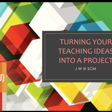 QESS/TDG Project Sharing Series: Turning Your Teaching Ideas into a Project