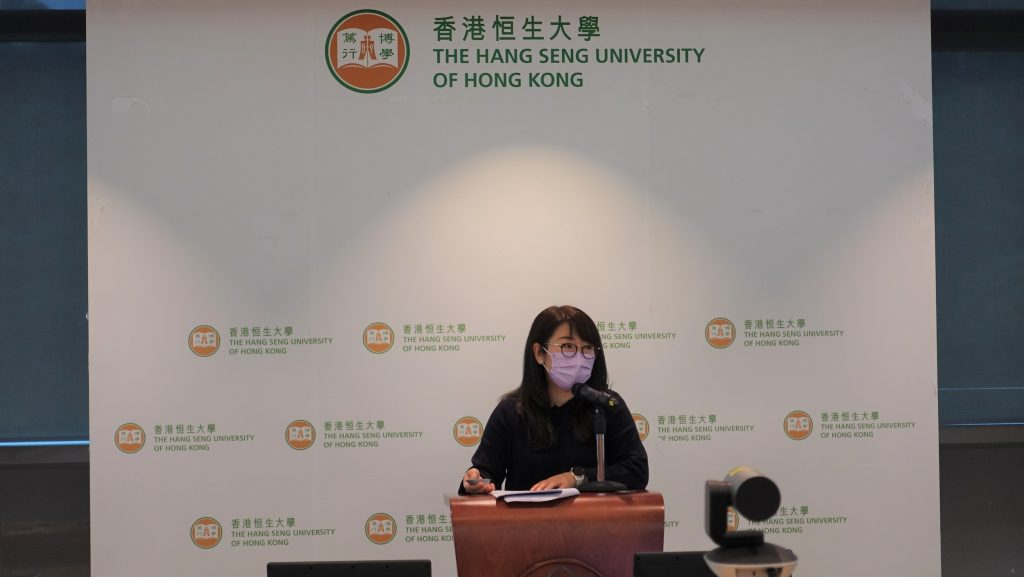 Ms Rosalie Woo speaks for the Teaching Excellence Awards Sharing Seminar II