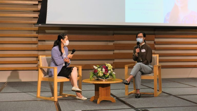 Dr Eko Liao and Dr Amy Wang at HSUHK Teaching and Learning Forum 2021