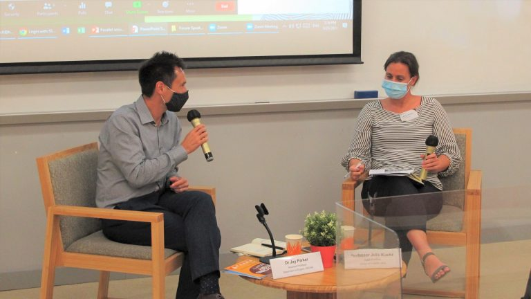 Professor Julia Kuehn and Dr Jay Parker at HSUHK Teaching and Learning Forum 2021
